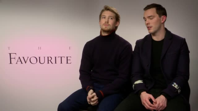 Actors Nicholas Hoult and Joe Alwyn talk about their new film The Favourite
