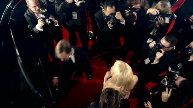 actors on red carpet - fame stock videos and b-roll footage