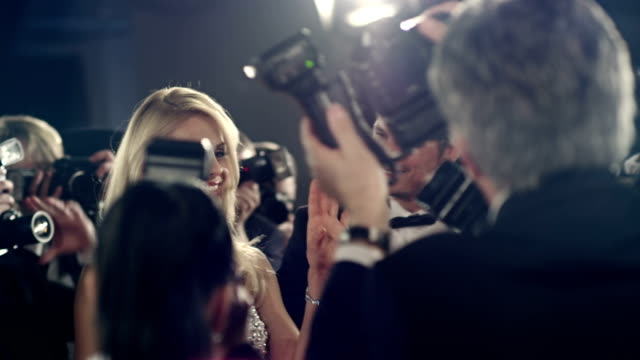 actors on red carpet - upper class stock videos and b-roll footage