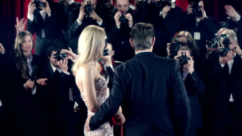 actors on red carpet - actor stock videos & royalty-free footage