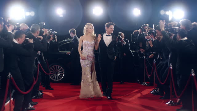 actors on red carpet - celebritet bildbanksvideor och videomaterial från bakom kulisserna