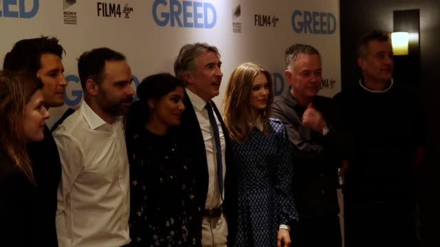 actors steve coogan, sophie cookson, ollie locke and dinita gohil walk the red carpet, alongside michael winterbottom the film's director and writer.... - steve coogan stock videos & royalty-free footage
