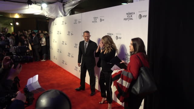 Actors Tom Hanks and Rita Wilson attend 'The Circle' screening during 2017 Tribecca Film Festival at BMCC Tribeca Performing Arts Center on April 26...