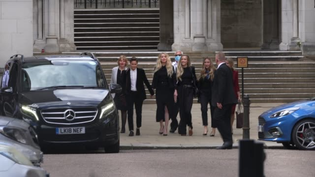 actress amber heard leaves the royal courts of justice strand on july 28 2020 in london england hollywood actor is taking news group newspapers... - amber heard stock videos & royalty-free footage