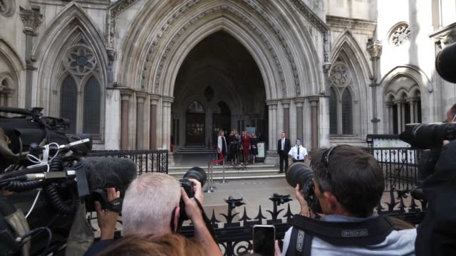 actress amber heard makes a statement outside the royal courts of justice strand on july 28 2020 in london england hollywood actor is taking news... - amber heard stock videos & royalty-free footage