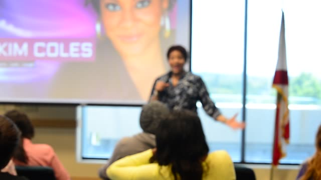 actress and comedian kim coles speaks and sign copies of her book 'gratitude journal choose to live life out loud' to discuss her story of gratitude... - self love stock videos & royalty-free footage