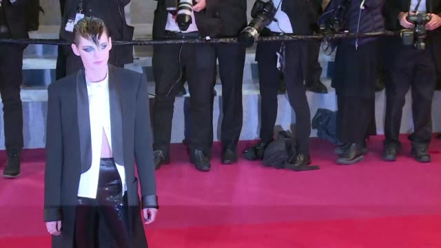 us actress and jury member kristen stewart walks the red carpet at the cannes premiere of palme d'or contender knife heart starring vanessa paradis - 71st international cannes film festival stock videos & royalty-free footage