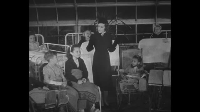 actress and singer lily pons sings happy birthday with hospitalized children of various ages and ethnicities for president franklin roosevelt at the... - day lily stock videos & royalty-free footage