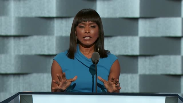 Actress Angela Bassett discusses the Charleston AME Church shooting at the convention telling delegates that since the shooting more lives have been...