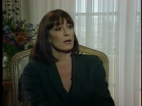 actress anjelica huston discusses the characters in her new movie the grifters - anjelica huston stock videos & royalty-free footage