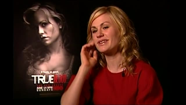 Actress Anna Paquin interviewed by reporter Dominic Bowden talking about her residence in Venice and feeling grateful for career success