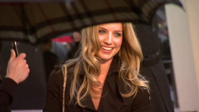 Actress Annabelle Wallis at the Burberry Prorsum London Fashion Week A/W 2010 Red Carper Arrivals at London England