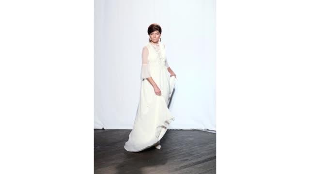 actress blanca blanco walks the runway during the christophe guillarme womenswear spring/summer 2020 show as part of paris fashion week on september... - paris fashion week stock videos & royalty-free footage