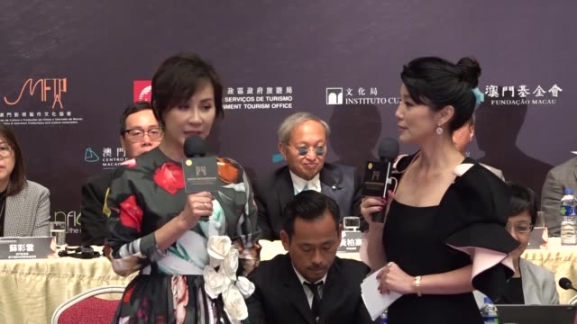 actress carina lau attends a press conference of the 4th macao international film festival awards on november 5 2019 in macao china - macao stock videos & royalty-free footage