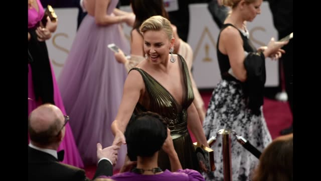 Actress Charlize Theron attends the 89th Annual Academy Awards at Hollywood Highland Center on February 26 2017 in Hollywood California