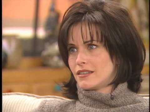 actress courtney cox talks about her appearance during an interview. - caucasian appearance stock videos & royalty-free footage
