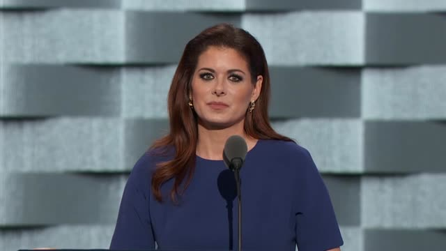 actress debra messing discusses the september 11th terrorist attacks at the convention telling delegates that nothing could divide the country on... - debra messing stock-videos und b-roll-filmmaterial