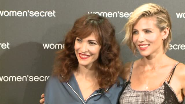 Actress Elsa Pataky and film maker Paula Ortiz attend photocall to present the fashion film 'Dark Seduction' for the lingerie firm Women' Secret