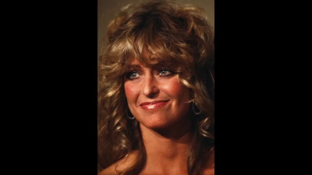 gif actress farrah fawcett poses backstage during the 52nd academy awards at dorothy chandler pavilion in los angelescalifornia - michael fawcett stock videos and b-roll footage