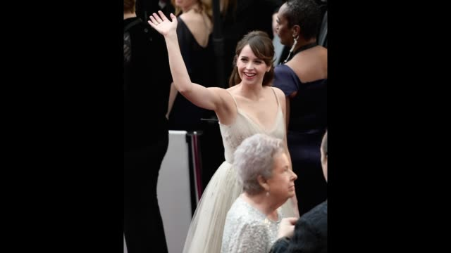 Actress Felicity Jones attends the 89th Annual Academy Awards at Hollywood Highland Center on February 26 2017 in Hollywood California