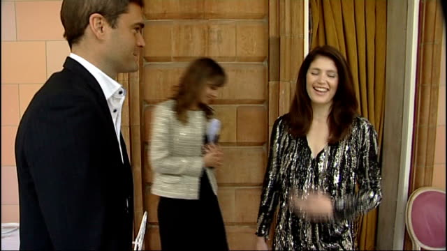 actress gemma arterton attends launch of harrods summer sale arterton greeting itn reporter sot gemma arterton interview sot funny to see everyone... - actress stock videos & royalty-free footage