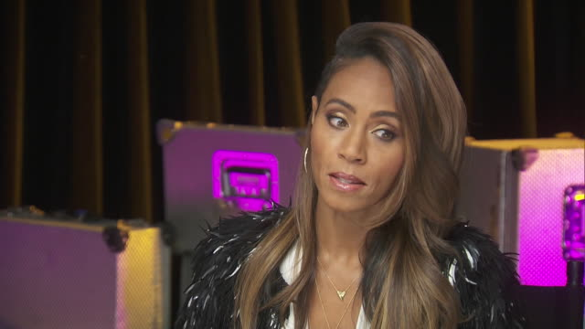 actress jada pinkett smith says that she is proud to be part of the chime for change benefit event to promote women's rights around the world. - savannah guthrie stock videos & royalty-free footage