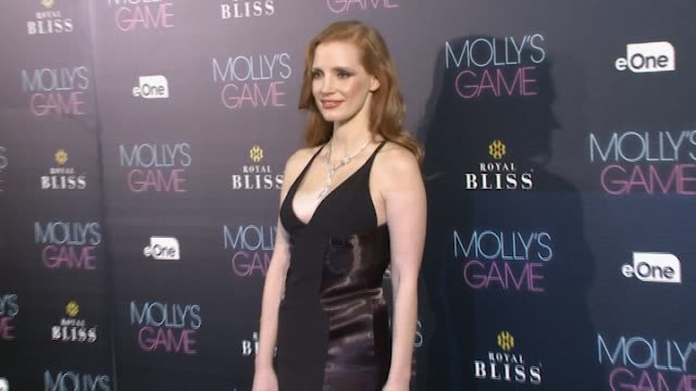 Actress Jessica Chastain attends 'Molly's Game' Madrid premiere at Callao Cinema