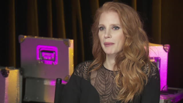 actress jessica chastain says that she is nervous to present at the chime for change concert, which benefits women's rights around the globe, because... - human rights or social issues or immigration or employment and labor or protest or riot or lgbtqi rights or women's rights stock videos & royalty-free footage