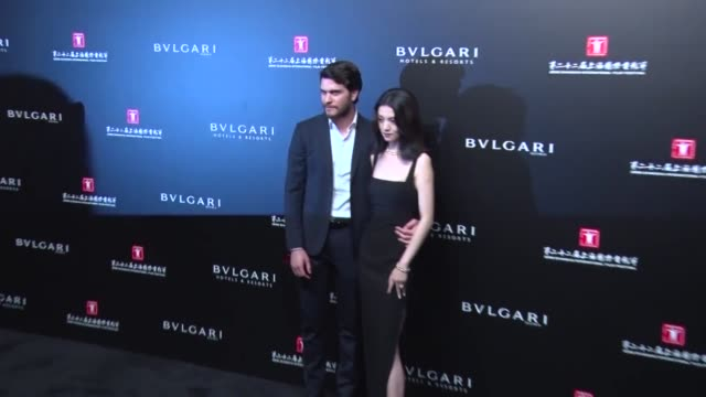 actress jessie li attends banquet of 'the greatest minds presented by bulgari' during the 22nd shanghai international film festival on june 18, 2019... - 黒のドレス点の映像素材/bロール