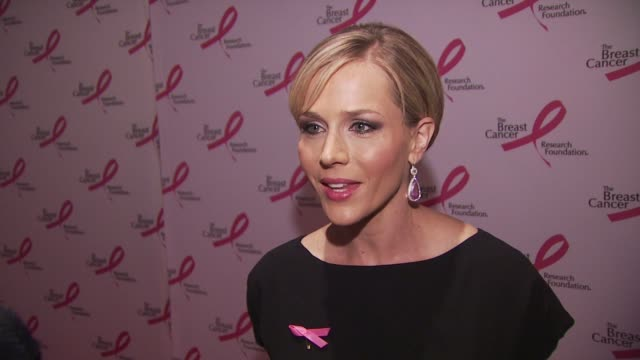 Actress Julie Benz is happy to be at the Hot Pink Party Talks about all the money that the Foundation raises Thinks it is a great effort for breast...