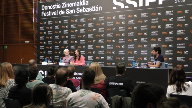actress juliette binoche attends the 'vision' press conference during the 66th san sebastian international film festival on september 26, 2018 in san... - juliette binoche stock videos & royalty-free footage