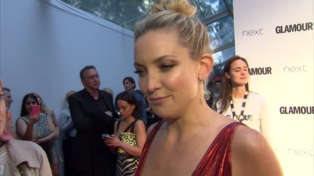 Actress Kate Hudson on winning Glamour Women of the Year Entrepreneur Award her mother Goldie Hawn The Glamour Awards took place on June 02 2015 in...