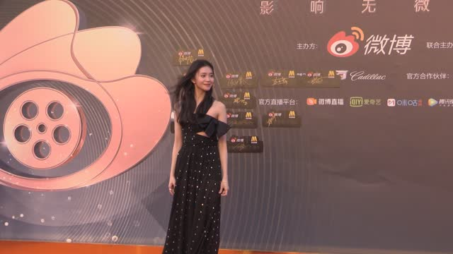 actress liu haocun attends 2021 weibo movie awards ceremony on june 12, 2021 in shanghai, china. footage by vcg) - celeb stock videos & royalty-free footage