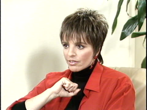 Actress Liza Minelli talks about her attitude towards acting values and chemical dependency