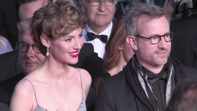 Actress Louise Bourgoin director Laurent Lariviere actor JeanHugues Anglade Agnes B Cecile de France and more attend the Je suis un Soldat red carpet...