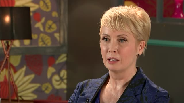 actress lysette anthony alleges she was raped on two occasions by harvey weinstein england int lysette anthony interview sot - jackie long stock videos & royalty-free footage