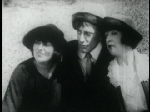 actress mabel normand swimming - 1921年点の映像素材/bロール