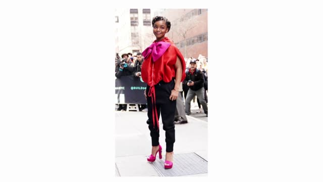 Actress Marsai Martin is seen on April 02 2019 in New York City