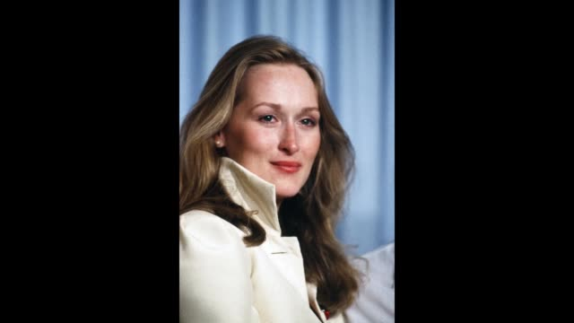 gif actress meryl streep poses backstage after winning 'best supporting actress' during the 52nd academy awards at dorothy chandler pavilion in los... - dorothy chandler pavilion stock videos and b-roll footage