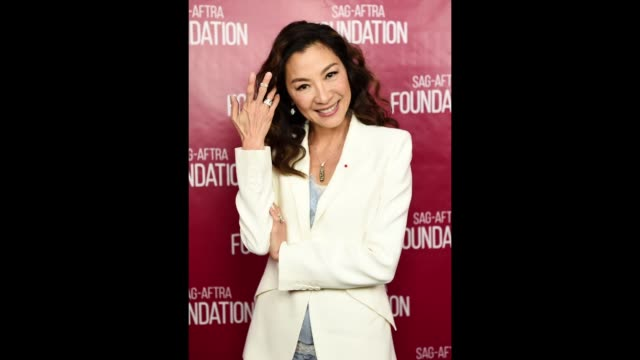 Actress Michelle Yeoh attends the SAGAFTRA Foundation Conversations with Michelle Yeoh event at the SAGAFTRA Foundation Screening Room on January 12...