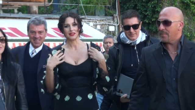 Actress Monica Belluci and model Bianca Balti film a TV commercial for fashion designers Dolce Gabbana Monica Belluci Films TV Commercial for Dolce...