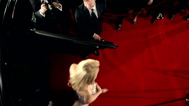 actress on red carpet - academy of motion picture arts and sciences stock videos and b-roll footage