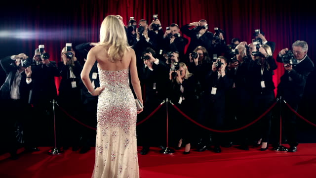 actress on red carpet - premiere stock videos & royalty-free footage