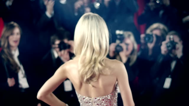 actress on red carpet - hollywood stock videos & royalty-free footage