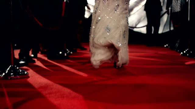 attrice sul red carpet - fascino video stock e b–roll