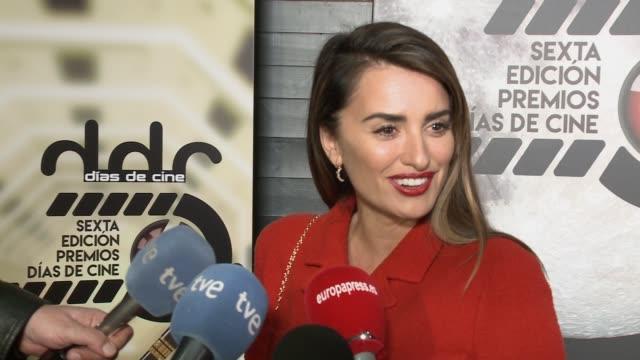 Actress Penelope Cruz attends 'Dias de Cine' awards at Cineteca