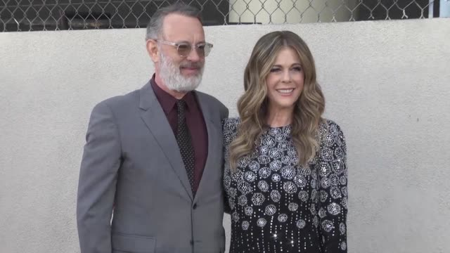 actress rita wilson is awarded a star on hollywood boulevard in the presence of her husband tom hanks and friend julia roberts - rita wilson actress stock videos & royalty-free footage