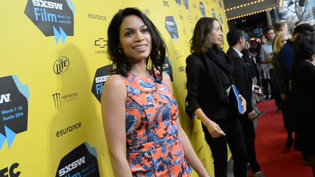 dawson actress rosario dawson arrives at the premiere of cesar chavez during the 2014 sxsw film music interactive festival at the paramount theater... - rosario dawson stock videos and b-roll footage