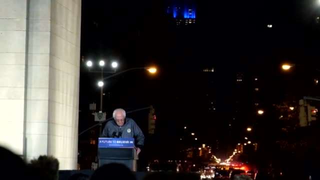 actress rosario dawson speaks before senator sanders at the bernie sanders campaign rally in washington square park, underneath the arch in the heart... - rosario dawson stock videos & royalty-free footage