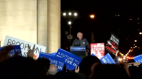 actress rosario dawson speaks before senator sanders at the bernie sanders campaign rally in washington square park, underneath the arch in the heart... - sander stock videos & royalty-free footage